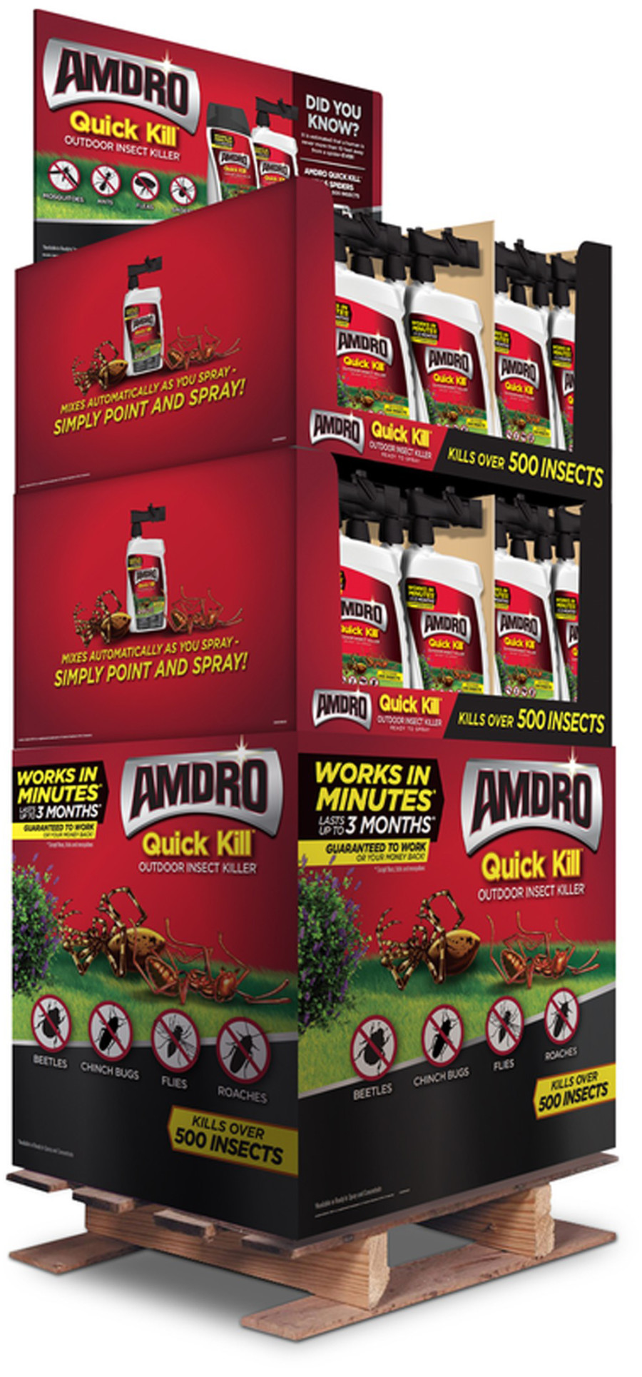 Amdro Quick Kill Outdoor Insect Killer Ready To Spray Quarter Pallet Display 48ea/32 oz