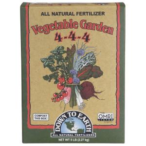 Down To Earth Vegetable Garden Natural Fertilizer 4-4-4 6ea/5 lb