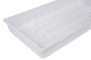 Sunpack Propagation Tray I.D. w/o drainage holes White 100ea/10In X 20 in