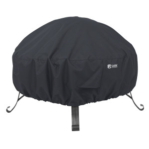 Classic Accessories Round Full Coverage Fire Pit Cover Black 2ea/Small