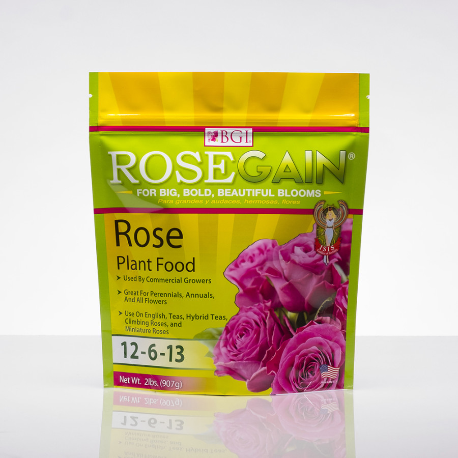 BGI RoseGain Plant Food Fertilizer 12-6-13 12ea/2 lb