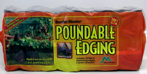 Master Mark Bordermaster Poundable Edging Black 10ea/6Inx20Ft Sections