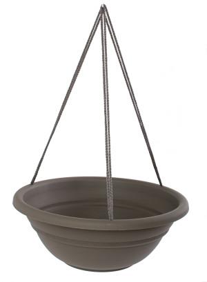 Bloem Milano Hanging Basket Planter Peppercorn 12ea/17 in