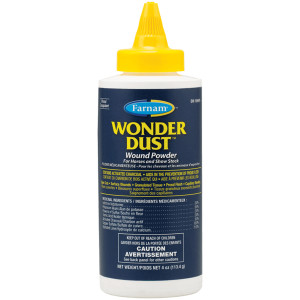 Farnam Wonder Dust Wound Powder for Horses and Show Stock, 12ea/4 oz