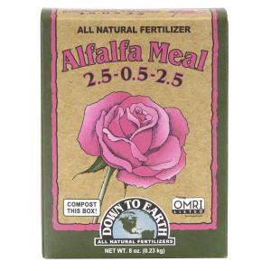 Down To Earth Alfalfa Meal Natural Fertilizer 2.5-.05-2.5 OMRI 12ea/1 lb