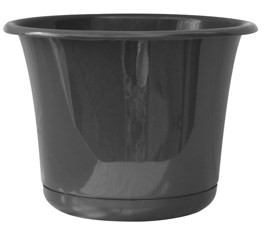 Bloem Expressions Planter Charcoal 6ea/8 in