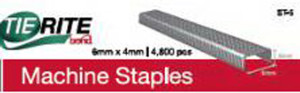 Bond TieRite Machine Staple Silver 100ea/6Mmx4 mm