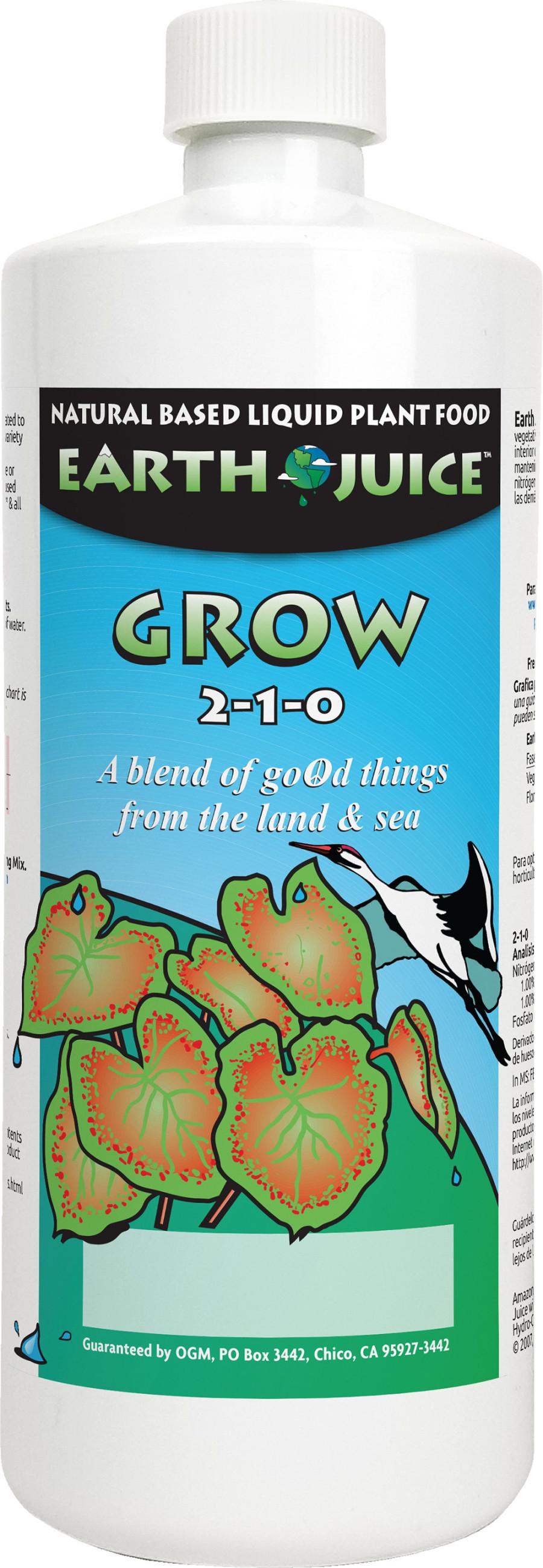 Earth Juice Grow 2-1-0 12ea/32 oz