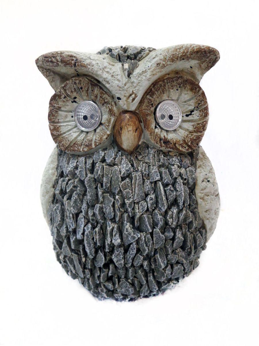 Alpine Solar Owl Statue 2ea