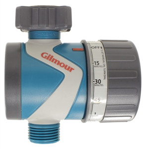 Gilmour Mechanical Water Timer Single Outlet Grey 6ea/3.5 In X 12.2 In X 6.5 in