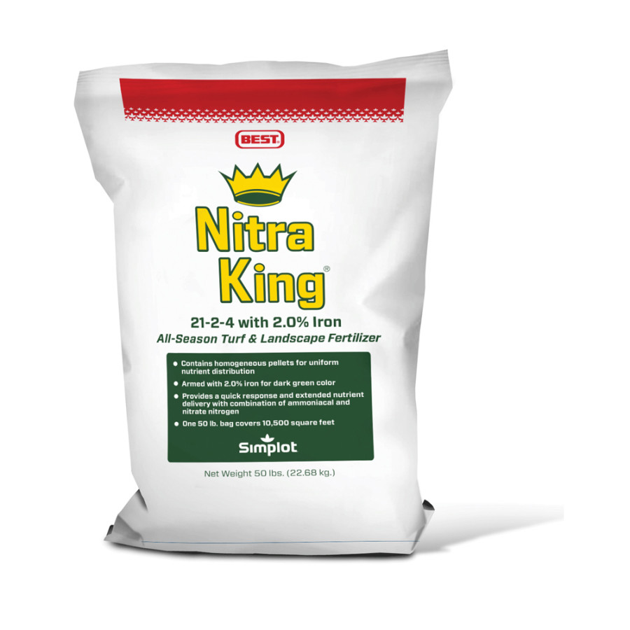 Best Nitra King Turf & Landscape Fertilizer 21-2-4 1ea/50 lb