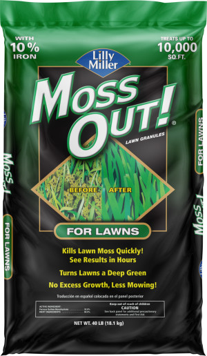 Lilly Miller Moss Out! For Lawns Granules 1ea/40 lb
