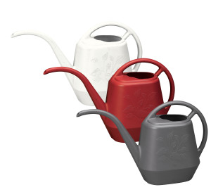 Bloem Aqua Rite Watering Can Mixed Case Core Casper White, Burnt Red, Charcoal 12ea/56 oz