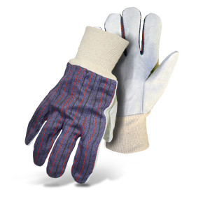 Boss Cowhide Palm Cotton Wrist Glove 12ea/Large
