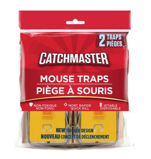 Catchmaster Mouse Snap Traps Wood 18ea/2 pk