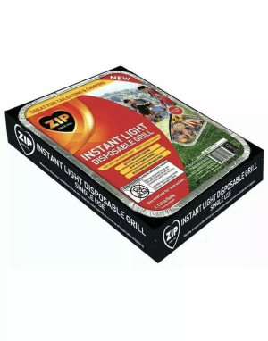 Zip Instant Light Disposable Grill 1ea