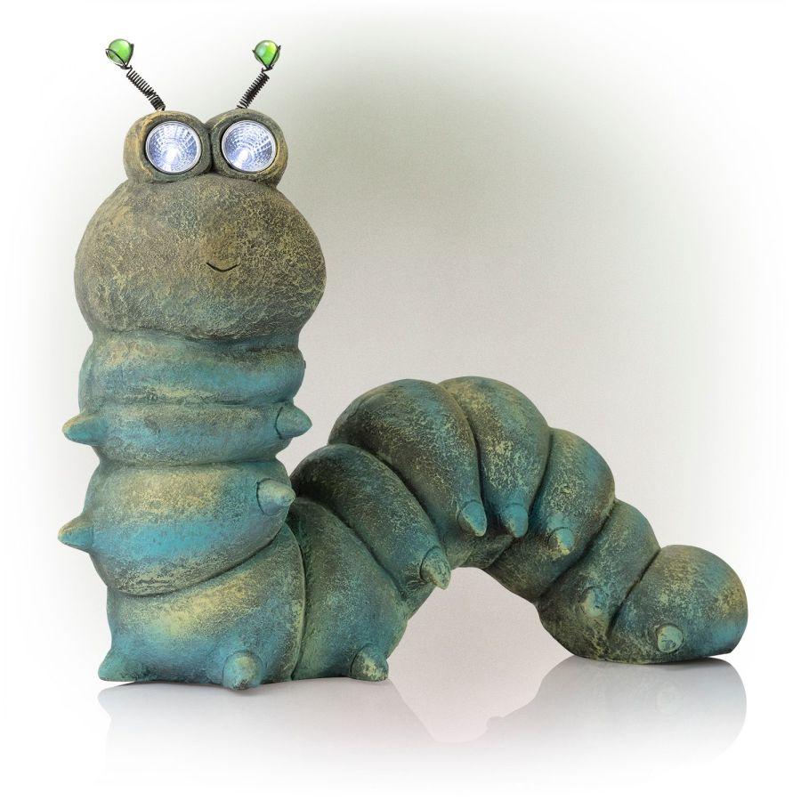 Alpine Solar Caterpillar Statue 1ea