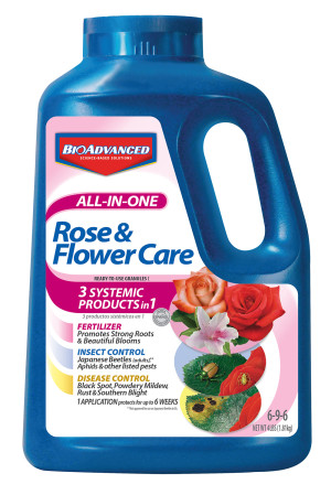 BioAdvanced All-In-One Rose & Flower Care Granules 6-9-6 Acephate 6ea/4 lb