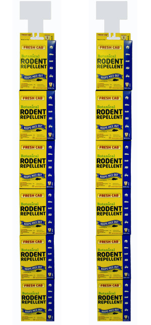 Fresh Cab Botanical Rodent Repellent Pouch 12ea/2 6Pk Clip Strips 2.5 oz