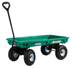 Millside Deck Wagon with Flat Free Wheels Plastic 1ea/20Inx38 in