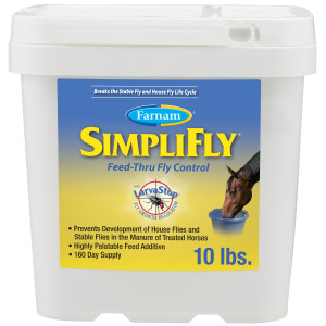 Farnam SimpliFly Feed-Thru Fly Control for Horses, Breaks and Prevents the Fly Life Cycle 1ea/10 lb
