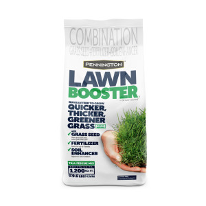 Pennington Lawn Booster Tall Fescue Mix Grass Seed & Fertilizer Smart Seed 4ea/9.6 lb