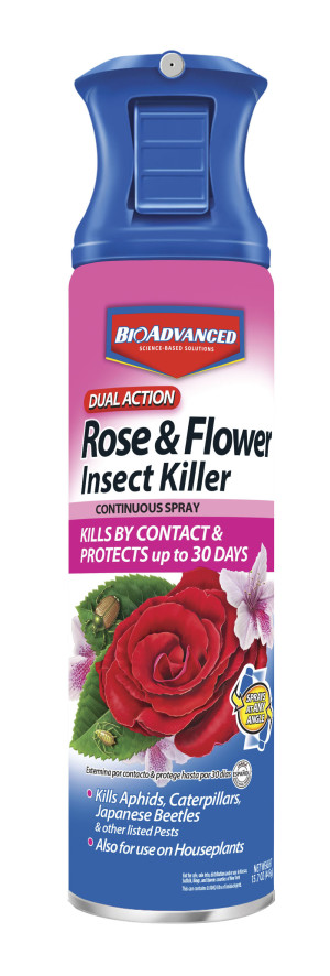 BioAdvanced Dual Action Rose & Flower Insect Killer Continuous Spray 12ea/15 oz