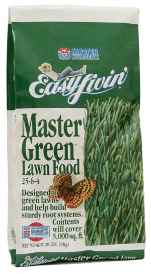 Master Nursery Master Green Lawn Food 25-6-4 5ea/20 lb