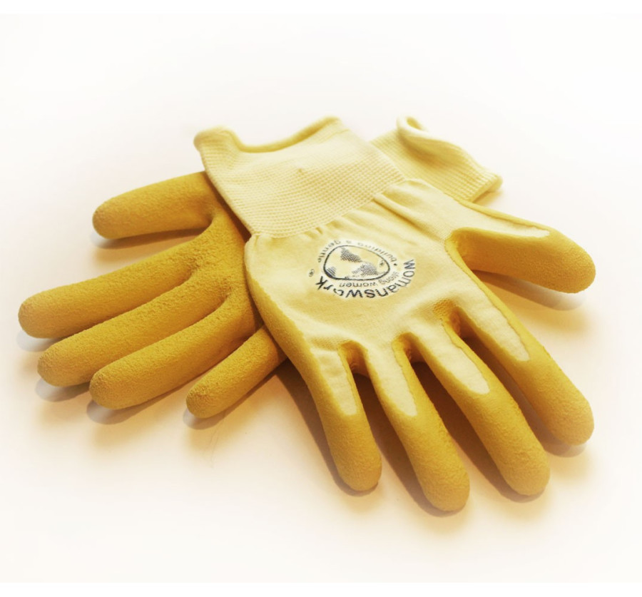 Womanswork Weeding Glove Yellow 6ea/Small