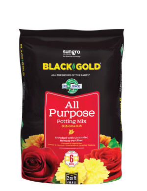 Black Gold All Purpose Potting Soil 5ea/0.13-0.04-0.13 2Cuft