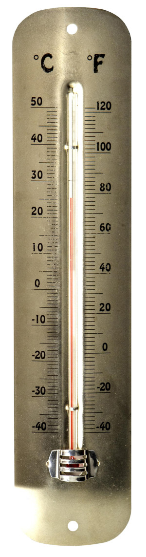 E-Z Read Stain Nickel Metal Thermometer Nickel 6ea/12 in