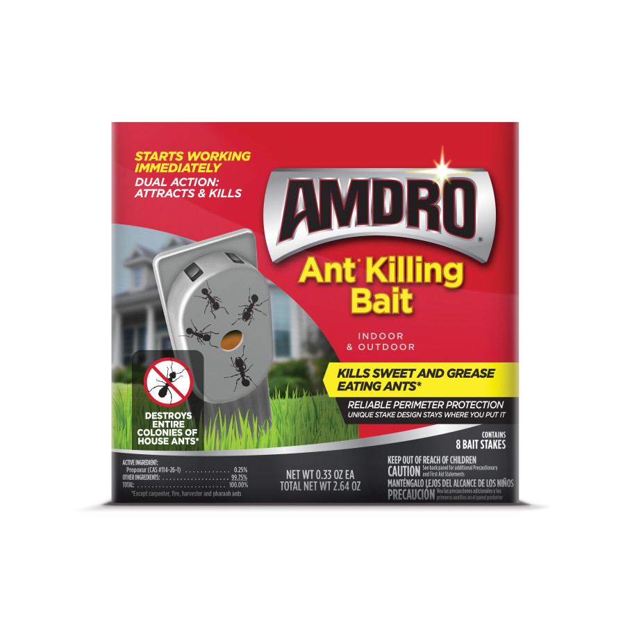 Amdro Ant Killing Bait Indoor & Outdoor Stakes 12ea/8 pk