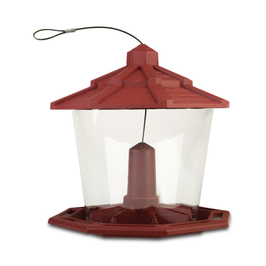 Pennington Earth Smart Recycled Ecozebo Bird Feeder Red 2ea