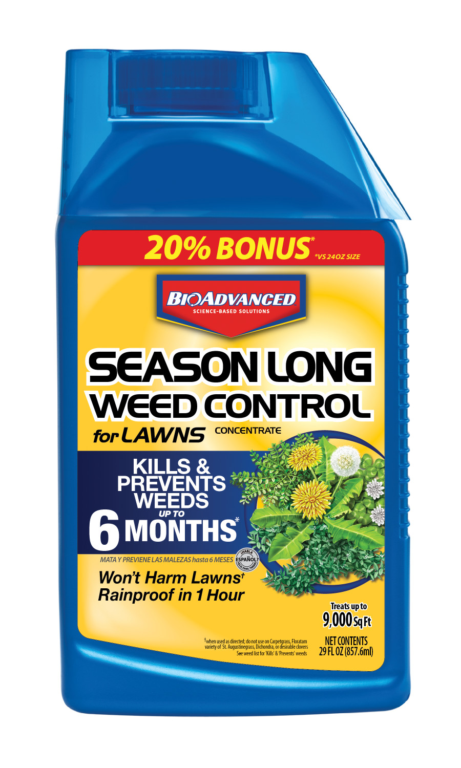 BioAdvanced Season Long Weed Control for Lawns Concentrate 8ea/29 fl oz