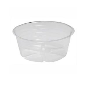 Bond Deep Dish Plastic Saucer Clear 25ea/4 in