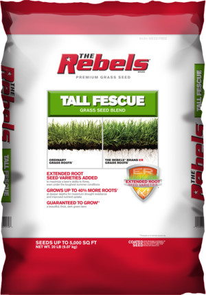 The Rebels Tall Fescue Grass Seed Blend Powder Coated 1ea/20 lb