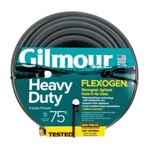 Gilmour Flexogen Premium Hose Heavy Duty Grey 4ea/1/2Inx75 ft