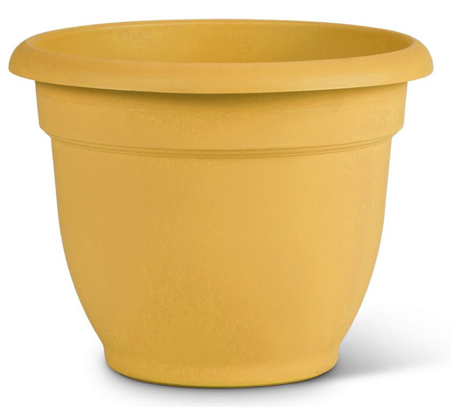 Bloem Ariana Planter with Grid Earthy Yellow 10ea/10 in