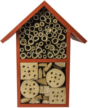 """Supermoss Beneficial Bug Hotel """"Tulip"""" Barn Red 1ea/5.5 In (W) X 11 In (H)"""