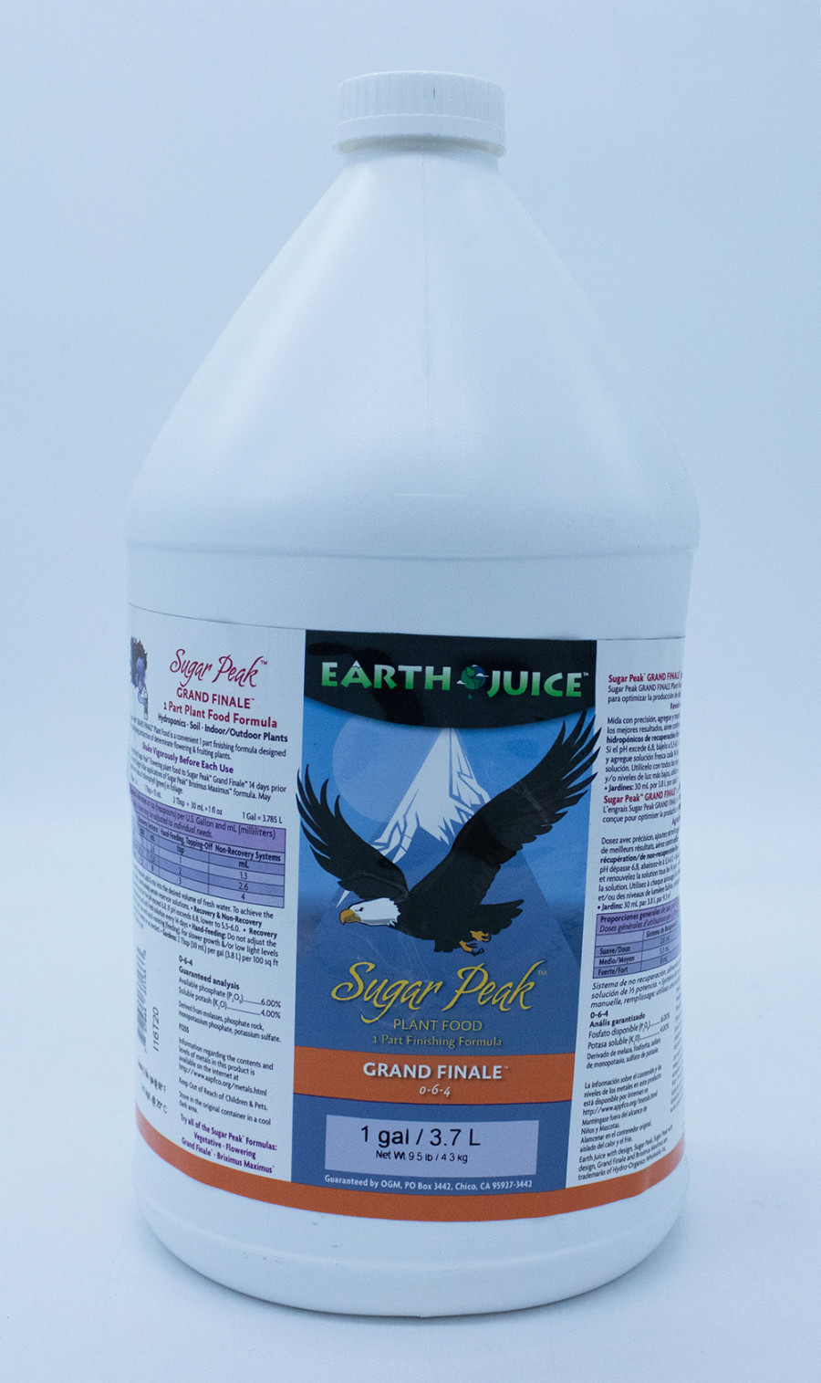 Earth Juice Sugar Peak Grand Finale Rock Phosphate 0-6-4 4ea/1 gal