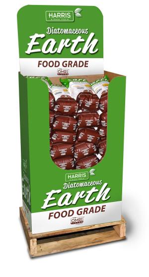 Harris Diatomaceous Earth Food Grade Mini Pallet 24ea/4 lb