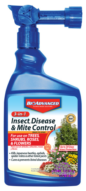BioAdvanced 3-in-1 Insect, Disease & Mite Control Ready to Spray 8ea/32 fl oz