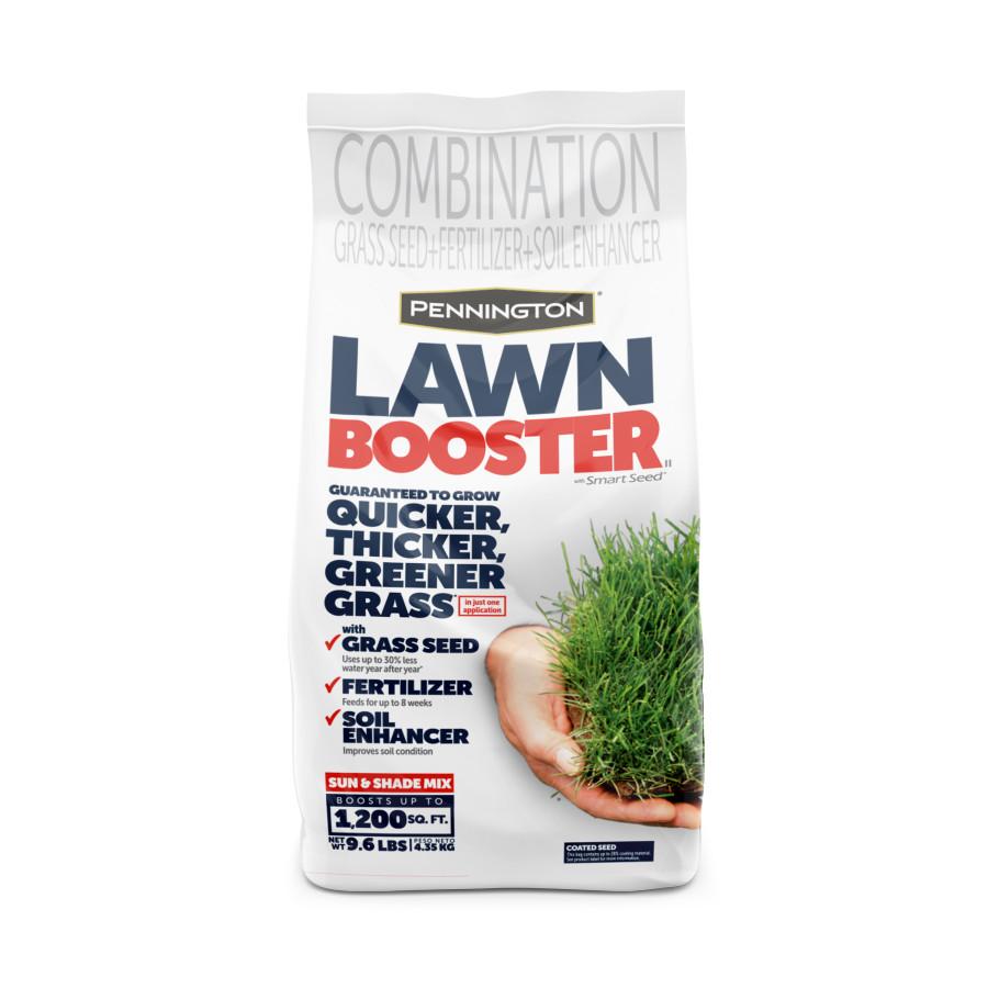 Pennington Lawn Booster Sun & Shade Mix Grass Seed & Fertilizer 4ea/9.6 lb