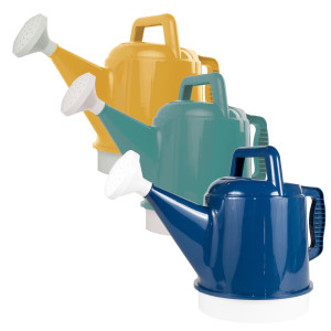Bloem Deluxe Watering Can Earthy Yellow, Bermuda Teal, Deep Sea 6ea/2.5 gal