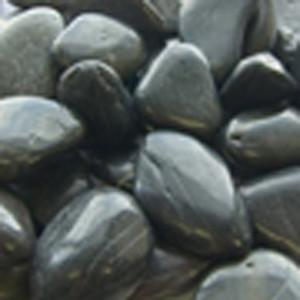 Panacea Polished River Rock Black 12ea/2 lb
