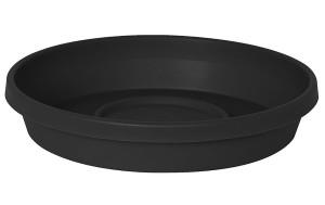 Bloem Terra Saucer Black 10ea/16 in