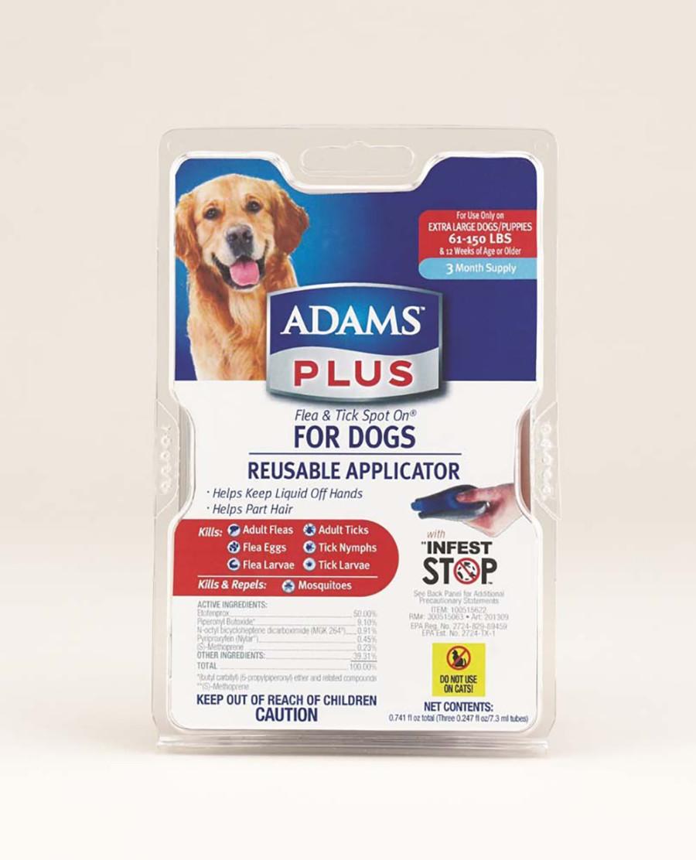 Adams Plus Flea & Tick Spot On Dog 3 Month with Applicator 1ea/Extra Large