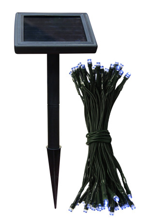 Alpine Solar Powered LED String Lights White 8ea/14 In (L) X 5 In (W) X 5 In (H)