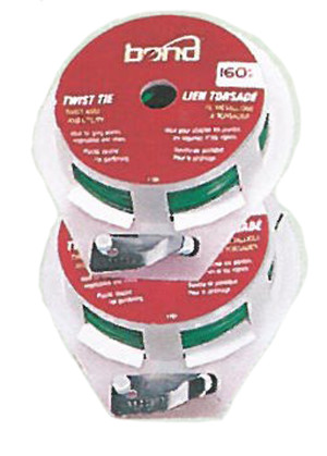 Bond Twist Tie Spool Green 12ea/160 ft
