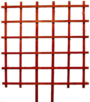 JJ Roberts Redwood Espalier Trellis Without Labels Grid Red 6ea/5Ftx5 ft